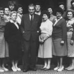 zaměstnanci knihovny v 60. letech 20. století