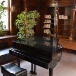 Hudební salonek, klavír